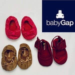 Baby GAP shoes Lot 3 Pairs 3-6 mos